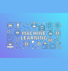 machine learning banner or vector image