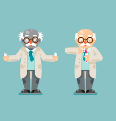 mad scientist experiment old wise smart chemical vector image