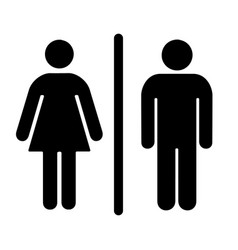 male and female toilet vector image