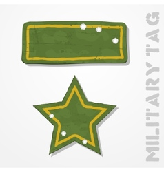 Military tags vector image