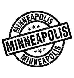 Minneapolis black round grunge stamp vector