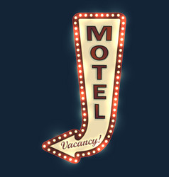 Motel road sign vector