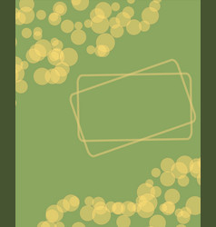olive green golden lime yellow dots abstract vector image
