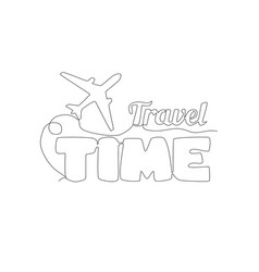 One single line drawing lettering cute vector