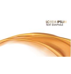 orange golden flowing liquid abstract vector image