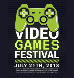 poster video game festival cyber sport concept vector image