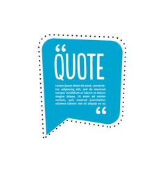 quote talk logo vector image