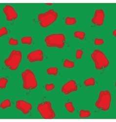 Red pepper seamless texture 602 vector image