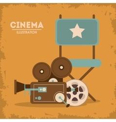 Retro cine design vector