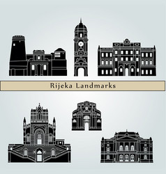 rijeka landmarks vector image