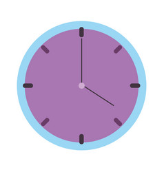 round clock time isolated icon design vector image