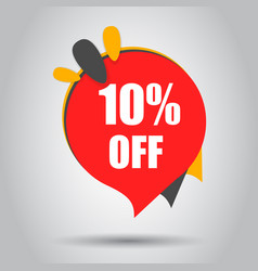 sale 10 off discount price tag icon business vector image