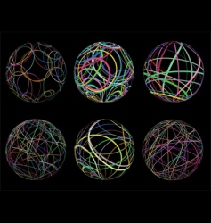 scribble spheres vector image