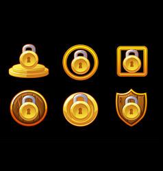 security icon set lock vector image