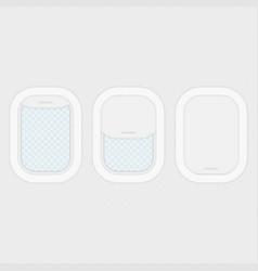 set of aircraft windows vector image