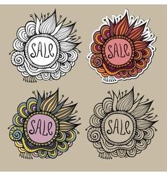 set sale nature labels vector image