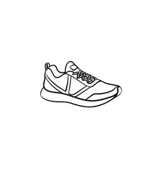 Sneaker hand drawn outline doodle icon vector