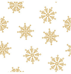 snowflakes seamless pattern for christmas vector image