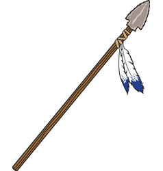 Spear logo mascot vector