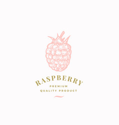 the raspberry abstract sign symbol or logo vector image