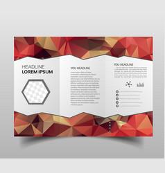 tri-fold brochures square design templates vector image
