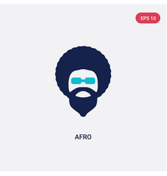 Two color afro icon from discotheque concept vector