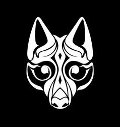 Wolf mural vector