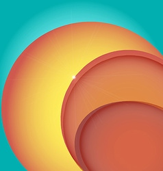 Abstract bright colorful background with circles vector image vector image