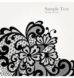 Black lace corner vector image vector image