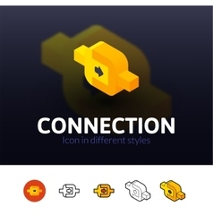 Connection icon in different style vector image vector image