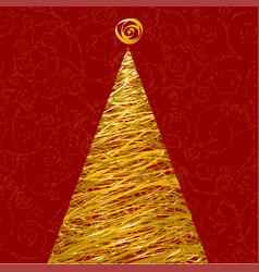 glitter christmas tree vector image