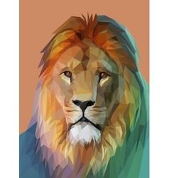 Lion portrait Low poly design eps10 vector image