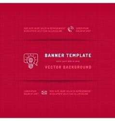 Magenta pink banner website template web vector