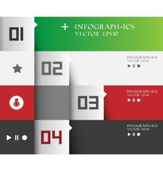 Modern business step options banner vector image vector image