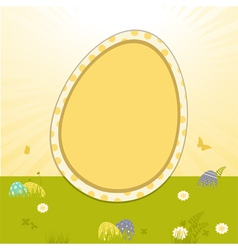 easter border background and star burst vector image vector image
