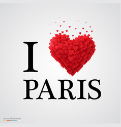 i love paris heart sign vector image