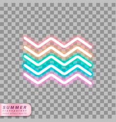 neon waves symbol vector image