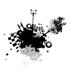 Park Romance Concept vector image vector image
