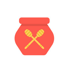 red honey pot simple icon vector image vector image