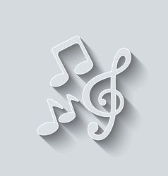 Stylish Music Icons with Long Shadows vector image