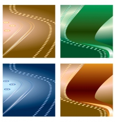 a set of abstract backgrounds vector image vector image
