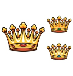 Royal king crown vector