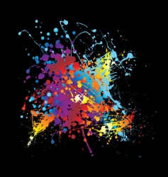 splat ink rainbow vector image vector image