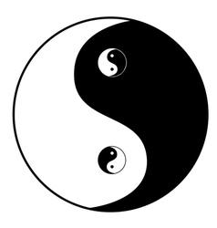 Ying yang symbol vector image vector image
