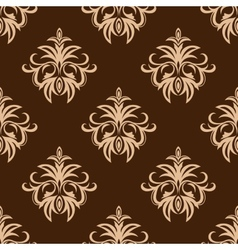 Brown and beige seamless pattern vector image vector image