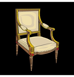 classical style chair vector image vector image