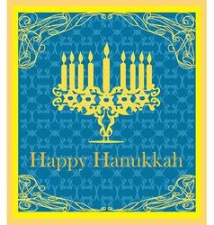 Hanukkah Greeting Card vector image