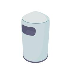 Outdoor bin icon cartoon style vector image