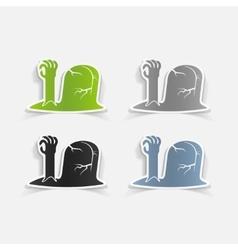 realistic design element tombstone vector image vector image