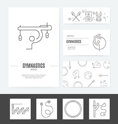 Rhythmic Gymnastics Business Set vector image vector image